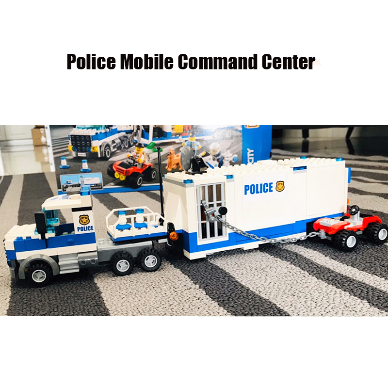 Mobile Command Center Compatible City Police 60139 Building Blocks Bricks Model Toys For Childrens Kid Gift 398pcs