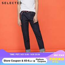 SELECTED Men's Slim Fit Stretch Denim Pants Whiskering Jeans LAB|420232511(China)