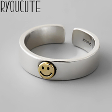 New Trendy Charm Smile Face Rings For Women Men Boho Knuckle Party Rings Punk Cocktail