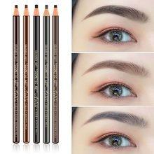 5 цветов, привлекательный карандаш для бровей, водонепроницаемый, натуральный, долговечный, черный, красный, коричневый, кофейный цвет, крас...