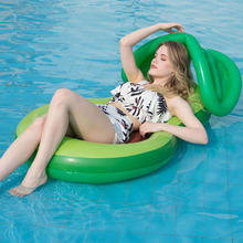 Floating-Row Bed-Chair Avocado Sun-Lounger Water Swimming Inflatable for Adults Netted