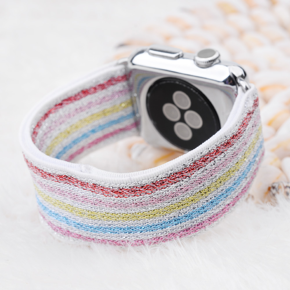 Scrunchie Elastic WatchBand For Apple Watch Band Series 5 4 3 2 Strap 38mm 40mm 42mm 44mm For Iwatch 5 4 3 2 1 Belt Wrist