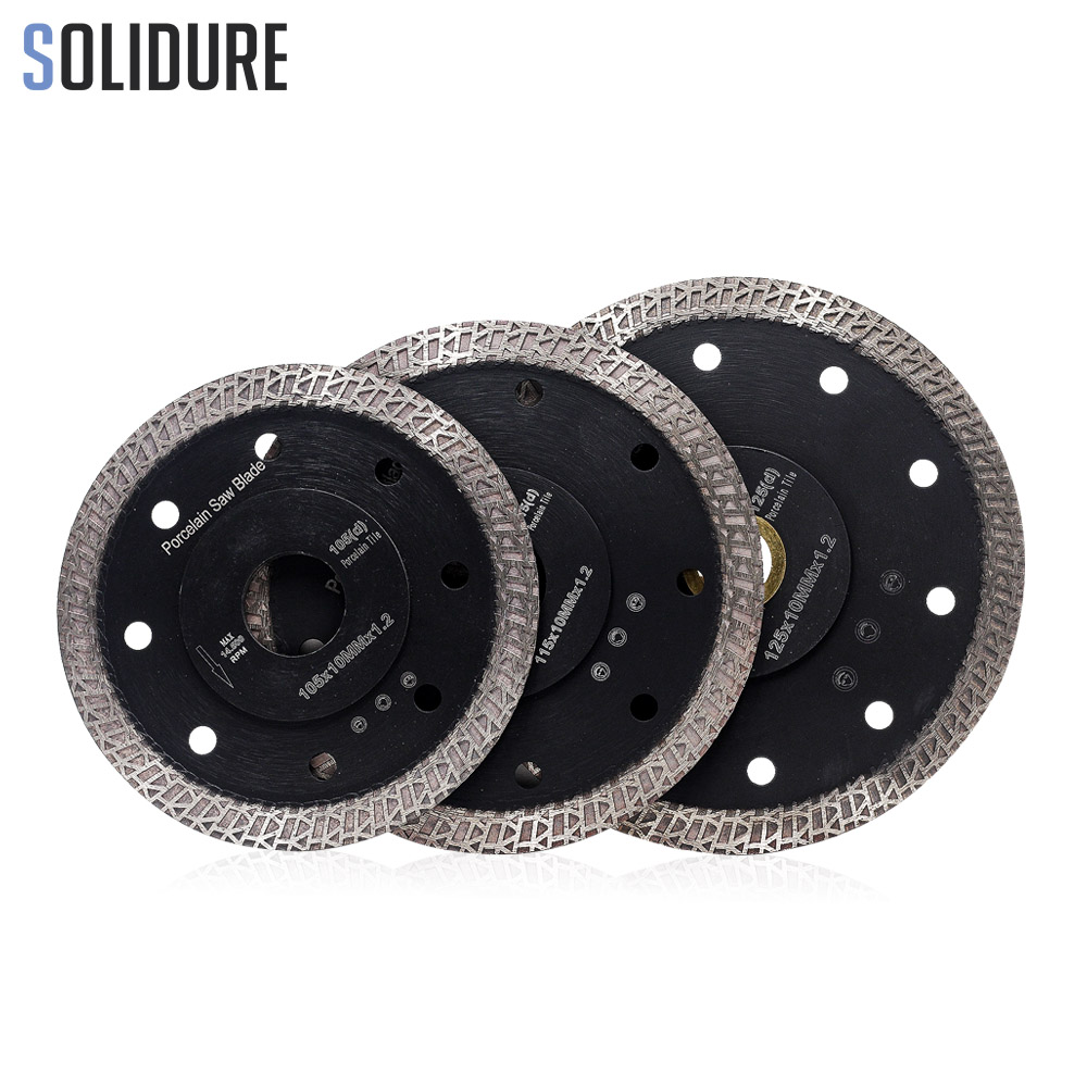 105/115mm/125mm Hot Sintered Continuous Rim Turbo Super Thin Diamond Porcelain Saw Blade For Cutting Porcelain Or Ceramics Tiles