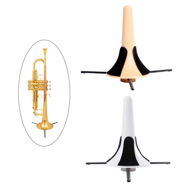Foldable Trumpet Tripod Holder Stand Metal Brass Leg Instrument Accessories To Protect The Instrument