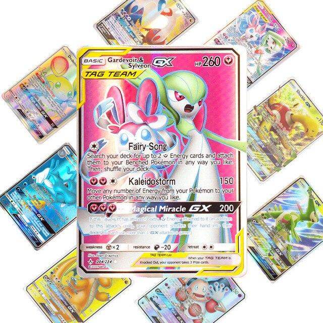 새로운 도착 베스트 셀러 pokemons 카드 게임 전투 carte 25 50 100pcs 트레이딩 카드 게임 키즈 완구