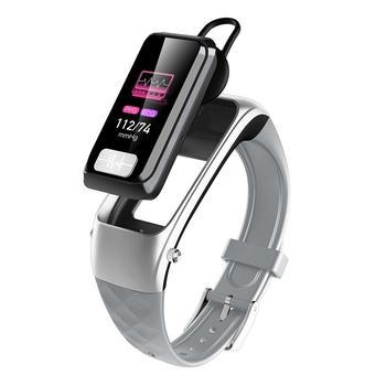 H207 Bluetooth 5.0 Smart 2-In-1 Earphone Smart Bracelet ECG+PPG Heart Blood Pressure Monitor Sports Wireless Headset Smartband