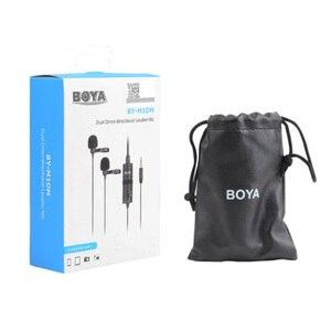 Image 3 - BOYA BY M1 M1DM BY MM1 + çift çok yönlü yaka mikrofonu kısa tabancası Video mikrofon canon nikon için iphone akıllı telefonlar kamera