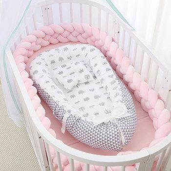 Przenośne łóżeczko dziecięce z poduszką łóżeczko dziecięce łóżeczko dziecięce łóżeczko dziecięce łóżeczko dziecięce łóżeczko dziecięce łóżeczko dziecięce łóżeczko dziecięce tanie i dobre opinie beideli Unisex W wieku 0-6m 7-12m 13-24m CN (pochodzenie) Tkaniny 85*45 cm QC0091-20200921 Numer certyfikatu Dostęp do komputera