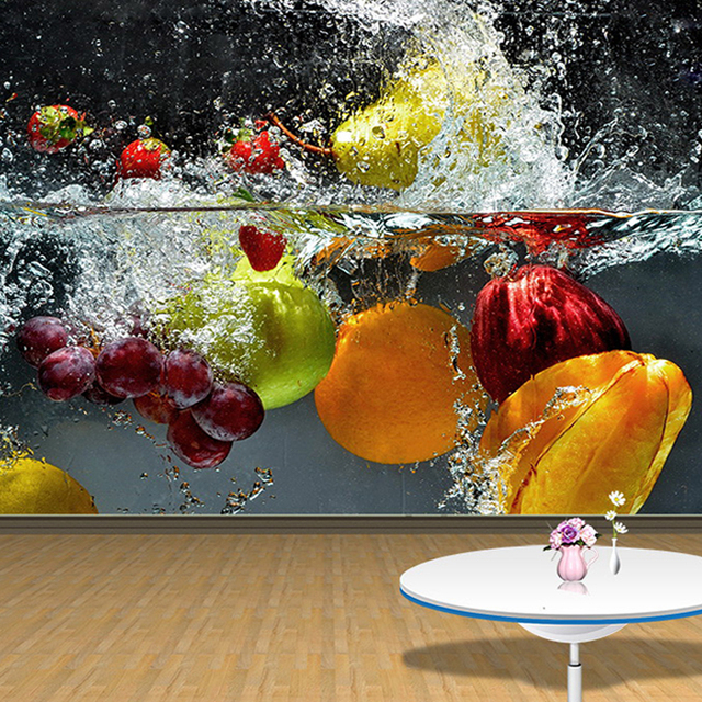 Custom Photo Wallpaper 3D Fruit Large Mural Cafe Juice Drinks Shop Restaurant Living Room Background Wall Papers Home Decor