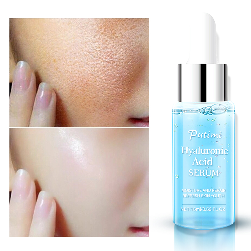 PUTIMI Anti Wrinkle Face Serum Hyaluronic Acid Essence Face Cream Shrink Pores Anti Acne Oil Control Lifting Cream For Face Care