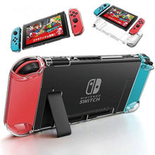 Capa transparente para nintendo switch, capa ultra fina destacável de cristal pc para nintendo switch ns nx saco do saco