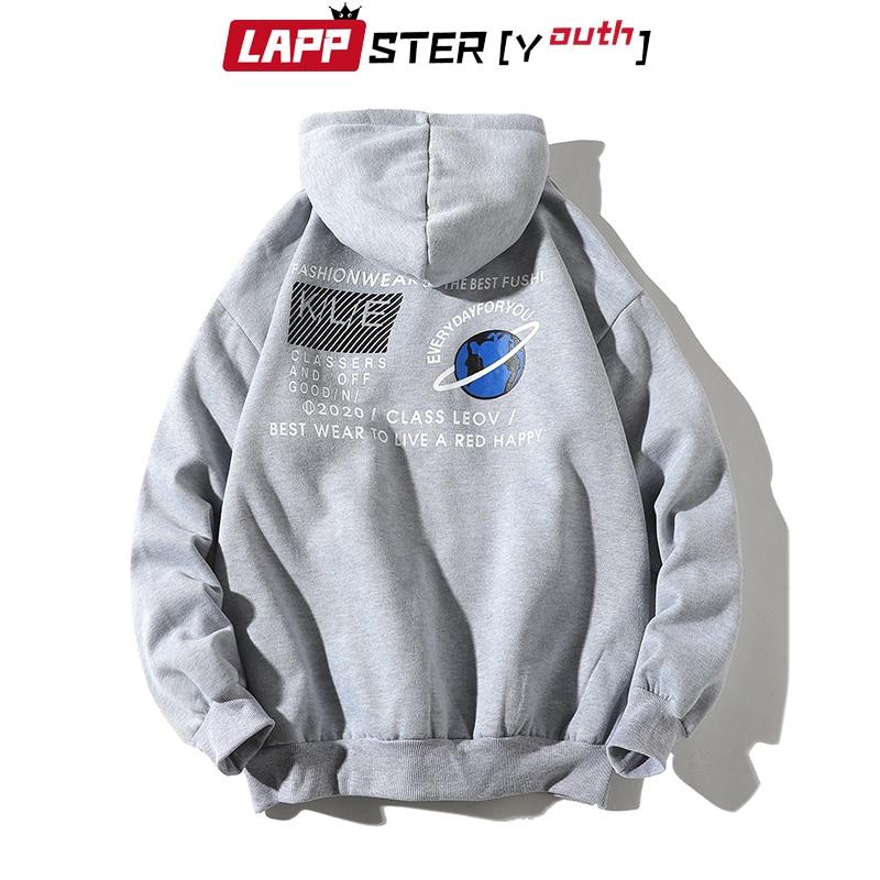 LAPPSTER-Youth Men Patchwork Streetwear Hoodies 2020 Autumn Pullover Man Harajuku Sweatshirts Oversized Yellow Hoodies Plus Size 2