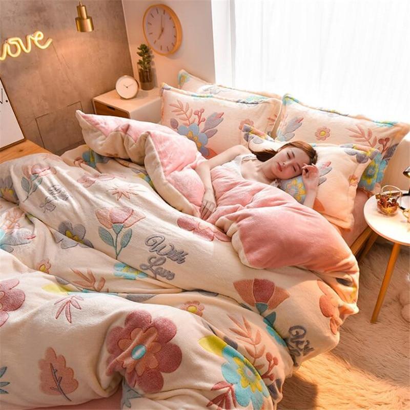 Têxtil para casa 1pc flanela colcha capa