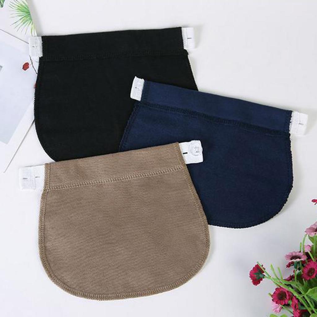 3 Colors Jeans Pants Extender for Pregnancy Waistbands Maternity Pants Extenders Straps Adjustable Pant Button Extenders