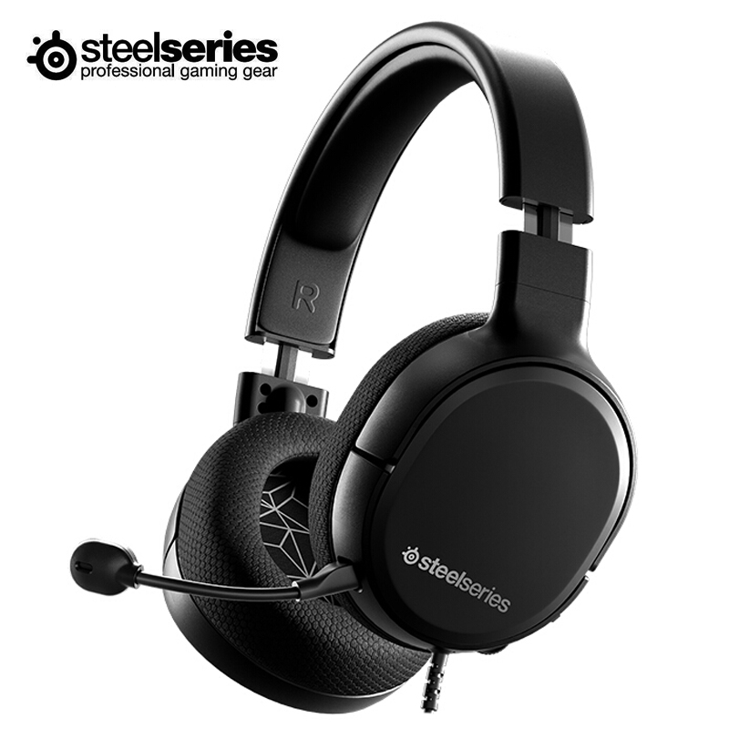 SteelSeries ARCTIS 1, auriculares para juegos por cable con cancelación de ruido ClearCast para PC, móvil, Mac, PlayStation, Xbox Switch Orejera electrónica táctica caliente para disparar deportes al aire libre, auriculares antiruido, auriculares de protección auditiva de amplificación de sonido de impacto