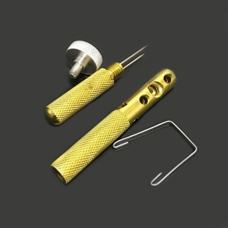 Alloy Fishing Line Knot-tying Tool Tied Hook Manual Dual Needle Wire UK STOCK Metal Manual Automatic Hook Tier Fishing Tools