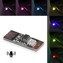 Voice And Touch Control 5pc USB LED Light Bulbs Indoor Atmospher Decorative Lamp Portable Plug And Play RGB Music Lighting cheap kebedemm Atmosphere Lamp