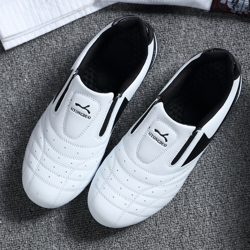 Taekwondo Shoes Karate Kung Fu Wrestling Martial Arts Shoes Woman Men Adults Teenager Soft Breathable Sneakers image