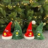 Christmas Electric Toy Christmas Hat Santa Claus Fun Cute Toy Swing Bell Light Tree Green Christmas Swing Hat Toy Ornaments