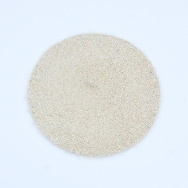 1 шт. женская элегантная разноцветная Шапка-берет из меха кролика - Цвет: beige