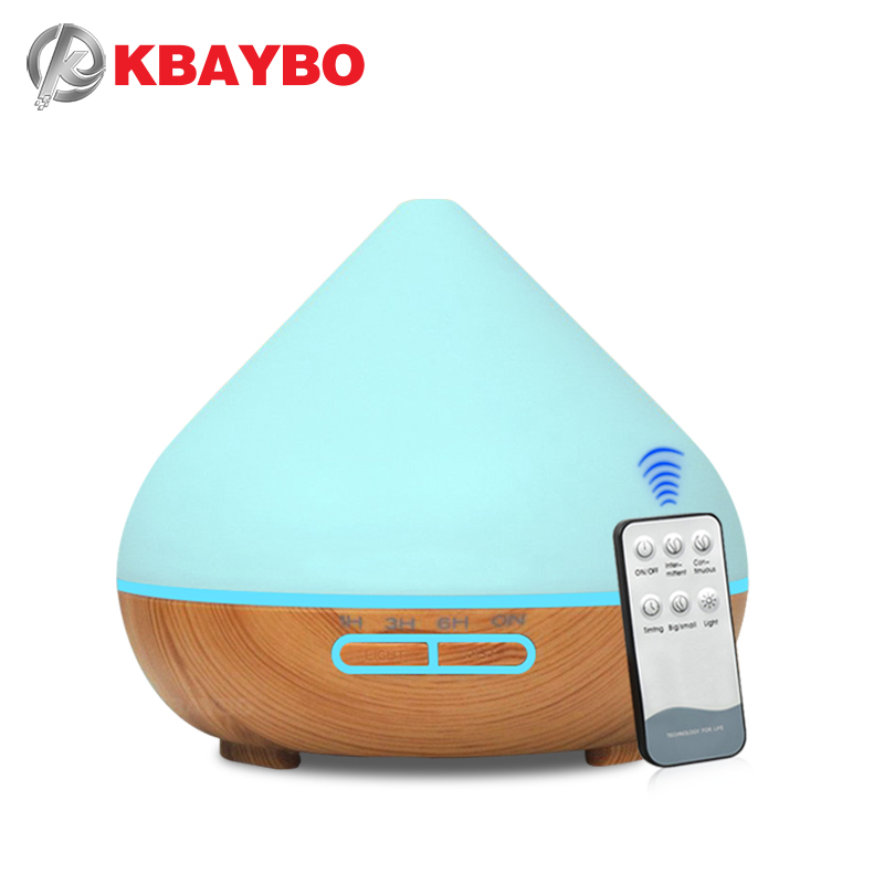 KBAYBO 300ML Air Purifier Ultrasonic Electric Aromatherapy Essential Oil Humidifier Aroma Diffuser With 7 Colors LED Lights