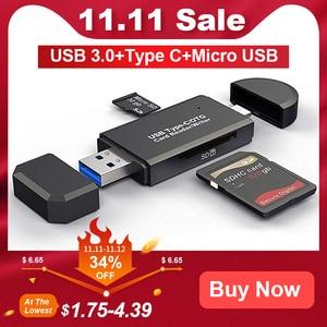 SD Card Reader USB 3.0 OTG Mic