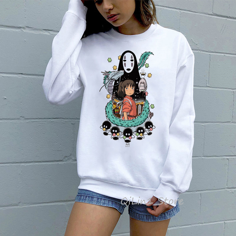 Totoro Spirit Away Hoodie Men Women Studio Ghibli Miyazaki Hayao Japanese Anime Sweatshirt Autumn Winter Clothes Kawaii Jumper