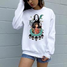 Totoro Spirit Away bluza z kapturem mężczyźni kobiety studio ghibli hayao miyazaki japońska bluza anime jesienne zimowe ubrania kawaii Jumper tanie tanio BONJEAN COTTON Poliester Swetry Bluzy Cartoon Na co dzień O-neck REGULAR Suknem Pełna hoodies sweatshirt WOMEN Cute hoodie Woman