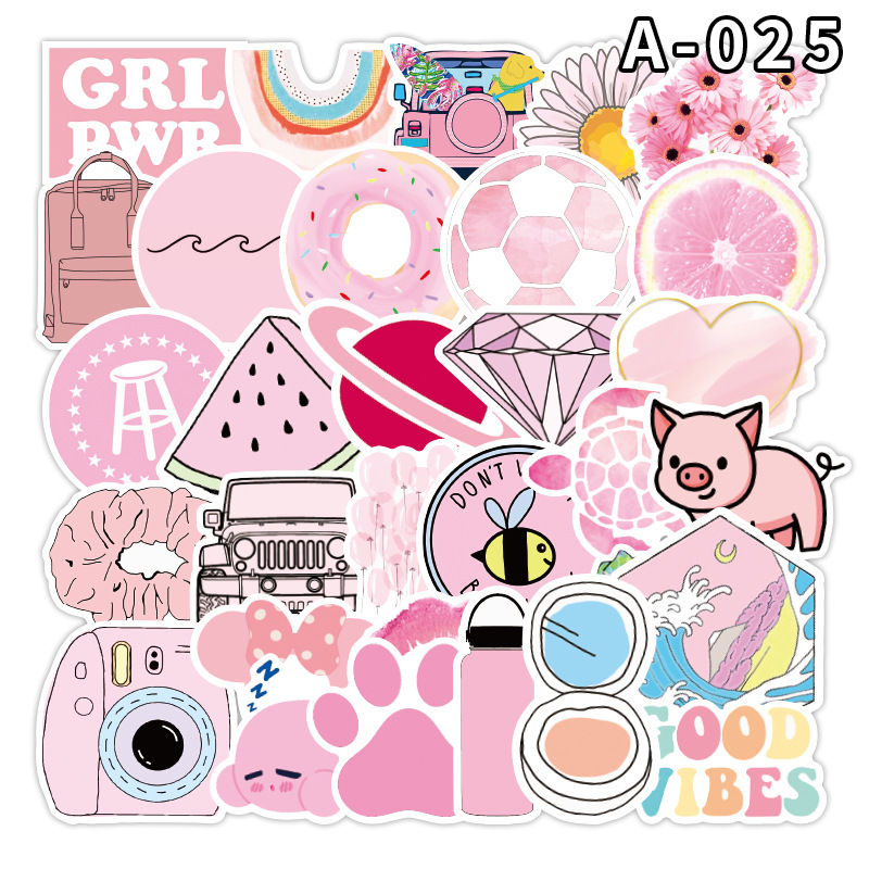 Купить с кэшбэком Stickers Sticker Diary Sticker Skateboard Sticker Graffiti Sticker Suitcase Notebook Refrigerator Sticker 50PCS MTZ139-143-6