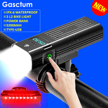 Powerful 5200mAh Bicycle Light 5L2 Digital Display 3000lumens Bike Front Light USB Chargeable Cycling Headlight as Power Bank