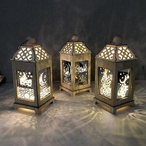 Image 5 - Liviorap Eid Mubarak dekory Led malowanie al fitr Home Decor islamska muzułmanin Mubarak dekoracja na Ramadan dla domu szczęśliwy Eid