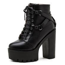 Женские ботинки на платформе со шнуровкой модельные праздничные