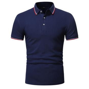 2020 nowa koszulka polo męska Casual business koszulka polo mężczyźni wysoka marka jakości męska koszulka polo letnia koszulka polo z krótkim rękawem męska tanie i dobre opinie Na zakupy SHORT Na co dzień summer CN (pochodzenie) POLIESTER REGULAR Patchwork GEOMETRIC Odporna na mechacenie Stałe
