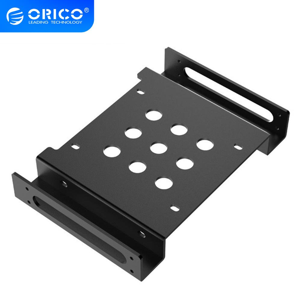 ORICO Aluminum <font><b>5.25</b></font> inch <font><b>to</b></font> 2.5 or <font><b>3.5</b></font> inch Hard Drive HDD SSD Converter Adapter Mounting Bracket Hard Drive Cage image