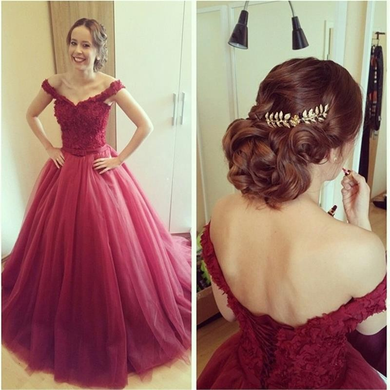 Long Women Evening Bridal Gown 2018 Sexy V-neck Off The Shoulder Tulle Lace Formal Vestido De Festa Mother Of The Bride Dresses