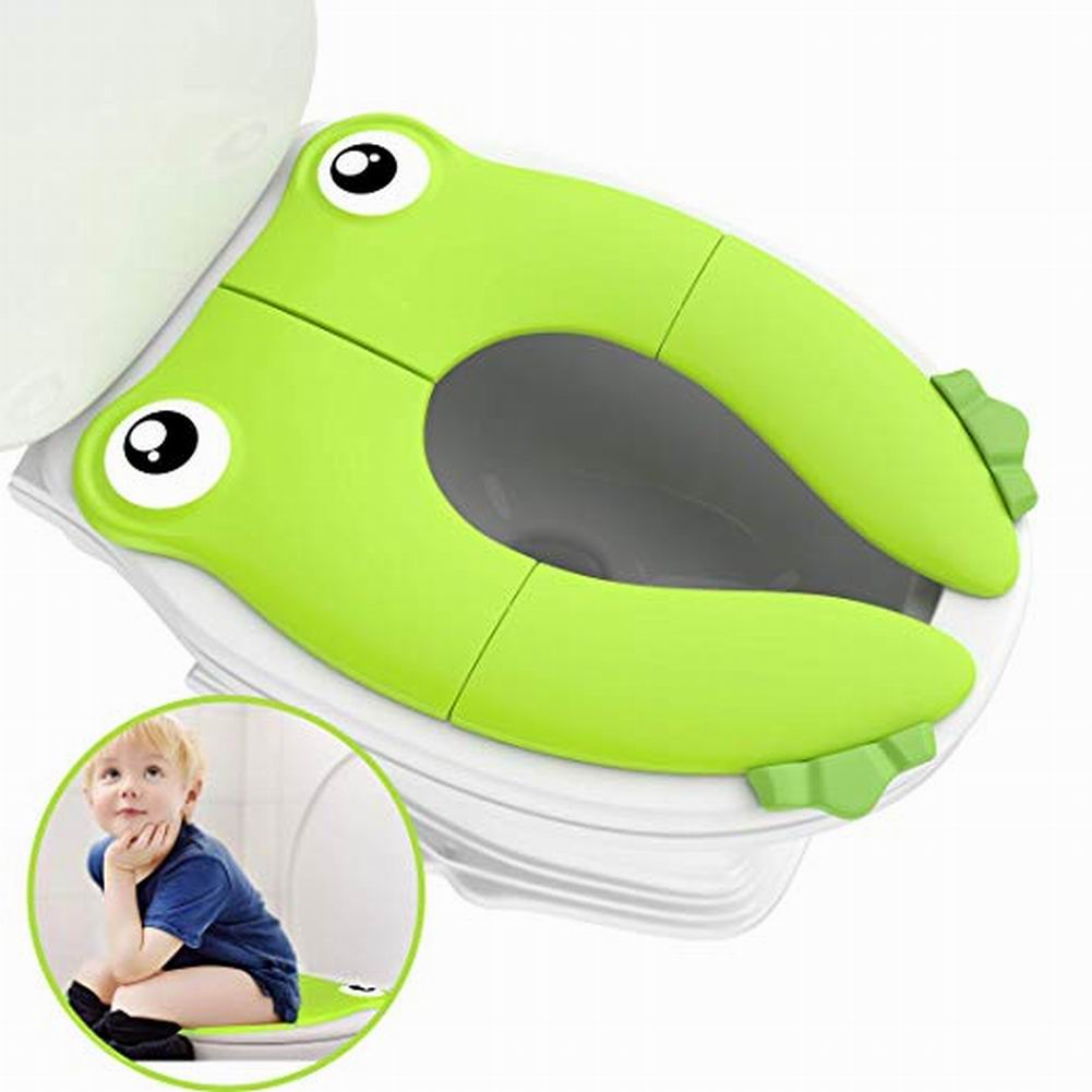 Baby Travel Folding Potty Seat Toddler Portable Toilet Training Mat Frog Profile Potty Traning Non-silp For Children PP Material