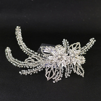 Silver Rhinestones Crystal Tiara Hairband Wedding Headband Bridal Hair Vine Headpiece Dress Jewelry For Brides Bridesmaids Gifts