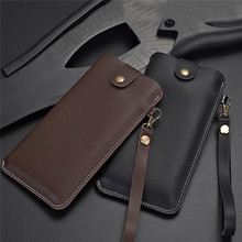 Leather Storage Bag Protective Case for Samsung Galaxy Fold Smartphone Business Style Bag Shockproof Cover