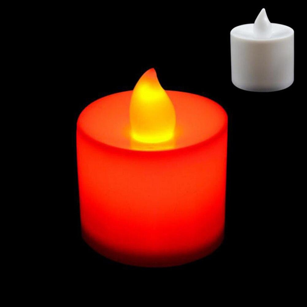 1 шт. Креативный светодиодный многоцветная Лампа-свеча имитация цвета пламени для дома, свадьбы, дня рождения, фестивальные декорации - Цвет: Красный