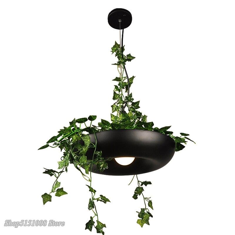 Nordique plante pendentif lumières bricolage ciel LED de jardin lampe Pot de fleur suspension lampe salle à manger Restaurant luminaires décor à la maison - 6