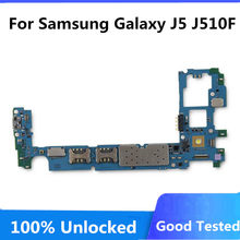 Pour Samsung Galaxy J5 J510F carte mère simple/double SIM débloqué pour Galaxy J510F carte mère pleine puces Android OS(China)