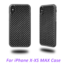 Real Black Carbon Fiber Glossy Case for iPhone X XS XR Cover Ultra Hybrid Soft TPU for iPhone XS Max Mobile Phone Case