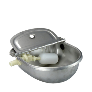 Image 1 - Farming Pet Sheep Dog Horse Automatic Float Cattle Cow Water Bowl Drink With Drain Hole Goat Trough Supplies Stainless Steel