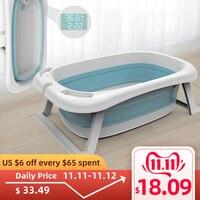 Folding Bathtub Children Lying Electronic Temperature Universal Bath Barrel Oversize Baby Newborn Supplies Baby Bath Tub