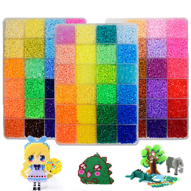 24/48/72 Colors 39000pcs Perler Toy Kit 5mm/2.6mm Hama beads 3D Puzzle DIY Toy Kids Creative Educational Handmade Craft Toy Gift