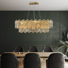 Phube Lighting Modern Crystal Chandelier For Dining Room Island Kitchen Cristal Hanging Lamp Home Decor Suspension Luminaire