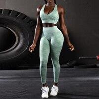 New Camo Seamless Leggings Women High Waist Push Up Elastic Shark Fitness Yoga Pants Gym Tight Camouflage Sport Leggings