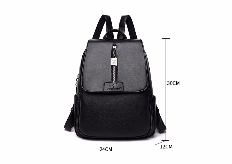 H27cad4778acf41ac8c2fc5560003fa76Z - Women Leather Backpacks High Quality Sac A Dos Rucksacks For Girls Vintage Bagpack Solid Ladies Travel Back Pack School Female