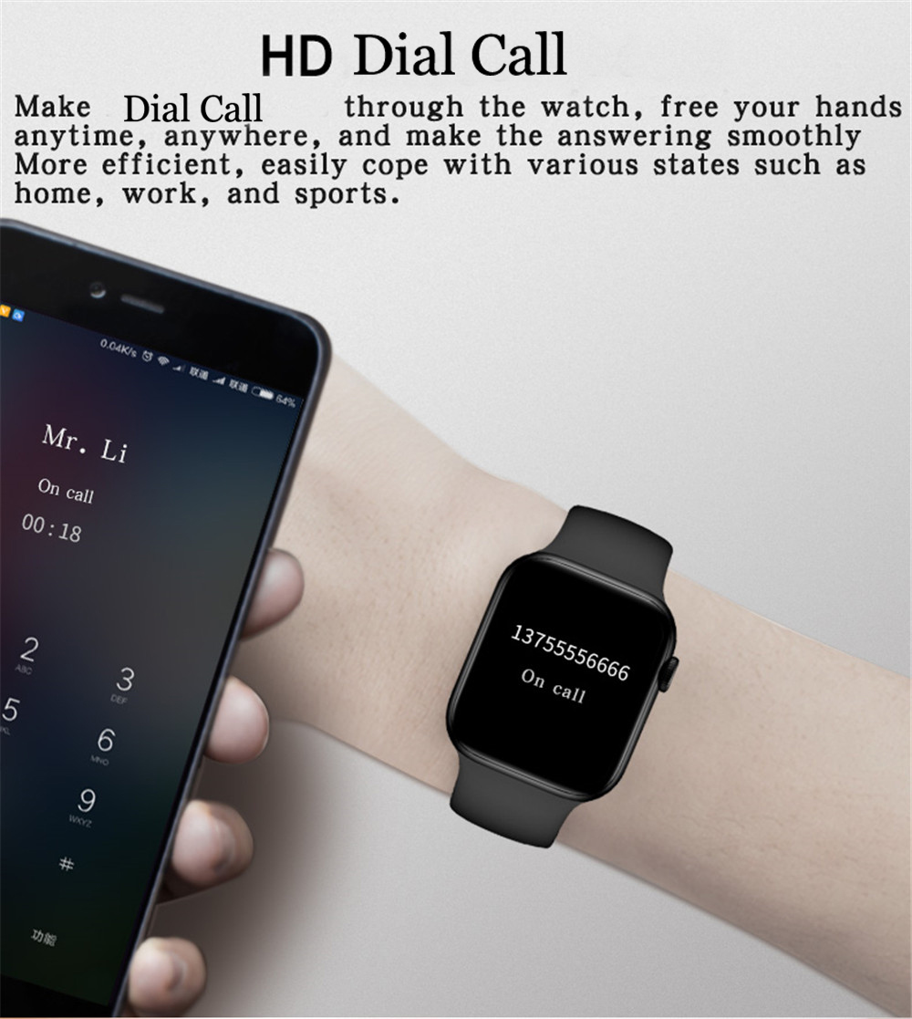 H27caedb119c14663a376ef94f1e3f90cT 2021 HW22pro Smart Watch Men Women Split Screen Display Original Smartwatch Body Temperature Monitor BT Call For Android IOS IWO