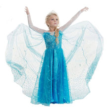 Baby Girls Dress Halloween Vestidos Christmas Princess Party Clothes Lace Elsa 2 Cosplay Dresses For Kids 4 5 6 7 8 9 10 Years(China)